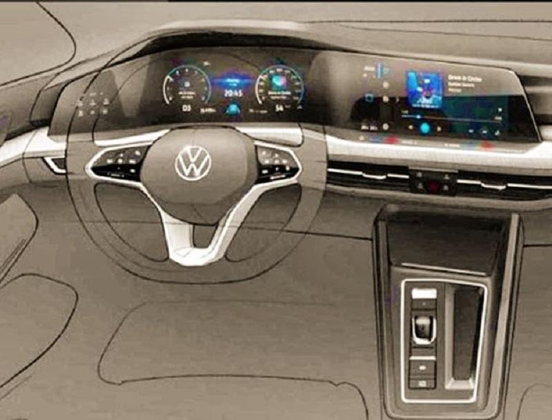 Volkswagen Golf 8 Kokpit Tasarımı