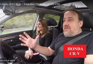 Youtube 1 Kadın 1 Erkek araba testi Honda CRV