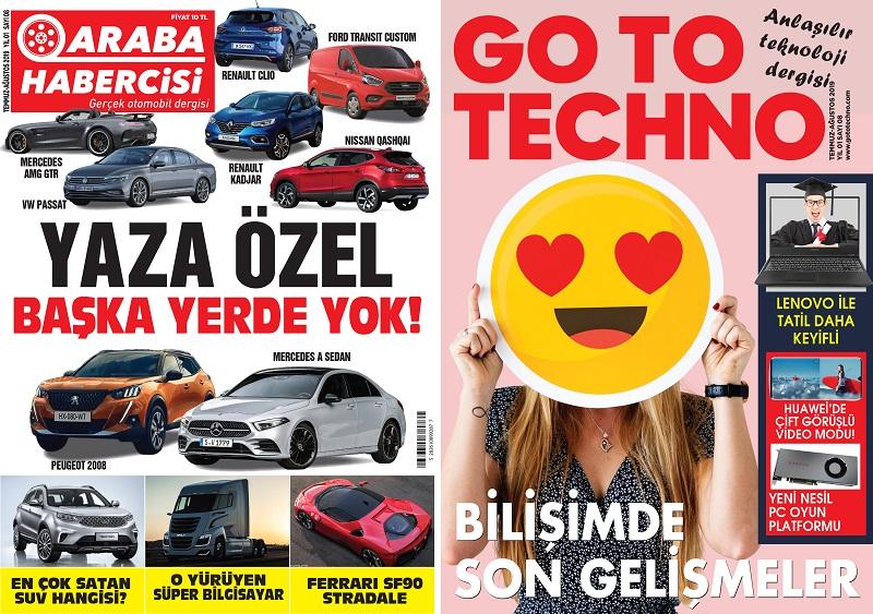 Araba Habercisi Dergisi Temmuz Sayısı Dergiliklerde