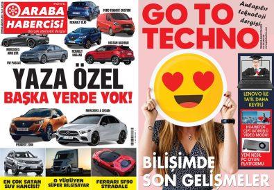 Araba Habercisi ve GoToTechno Dergisi Temmuz Sayısı Dergiliklerde