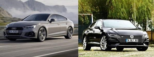 Volkswagen Arteon Audi A5 karşılaştırması.