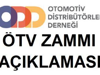 ÖTV Zammı ODD açıklaması.