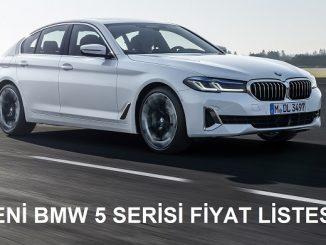 BMW 5 Serisi Fiyat Listesi.