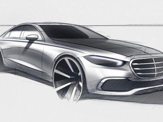Yeni Mercedes S Serisi çizimi.