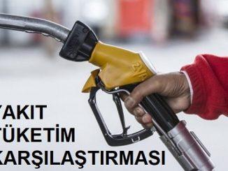 Yakıt tüketim karşılaştırması.