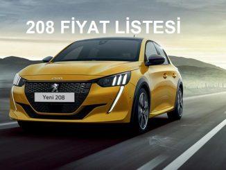 2021 Peugeot 208 Fiyat listesi.