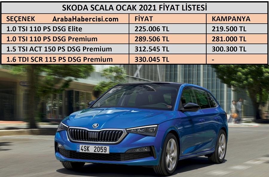 Skoda Scala fiyat listesi 2021. Scala fiyatları. Scala ...