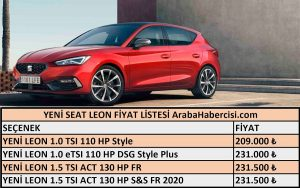 2021 Leon fiyat listesi