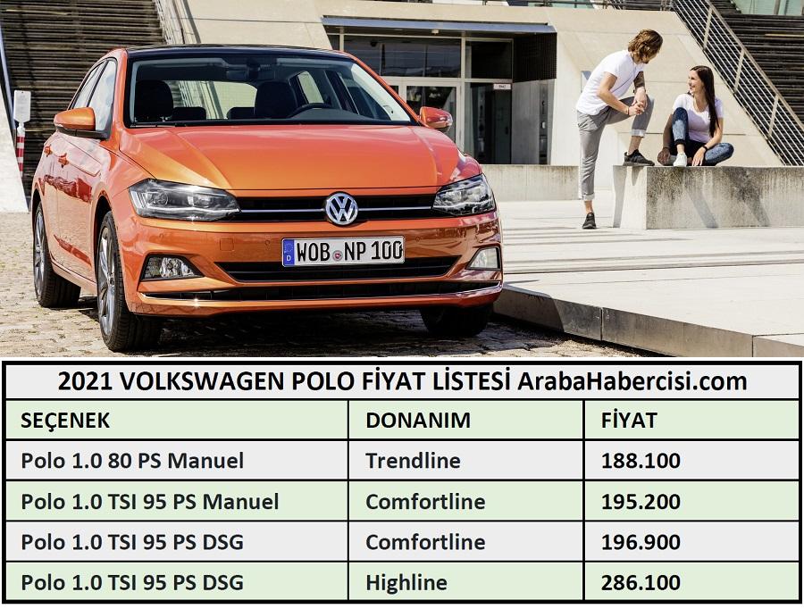 2021 volkswagen polo fiyatlari 2021 volkswagen polo fiyat listesi