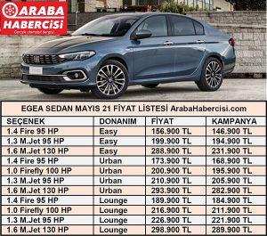 Fiat Egea Sedan fiyatları Mayıs