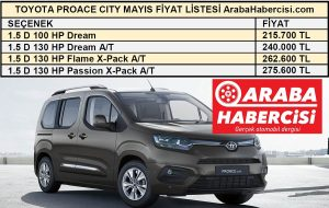 Hafif ticari araç fiyatları Toyota