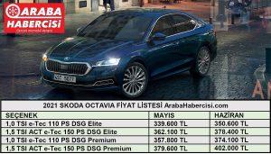 Skoda Octavia fiyat listesi Haziran