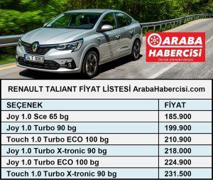 Yeni Renault Taliant fiyatları 2021