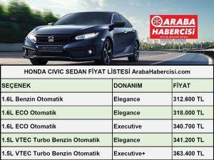 2021 Civic Sedan fiyatları Temmuz