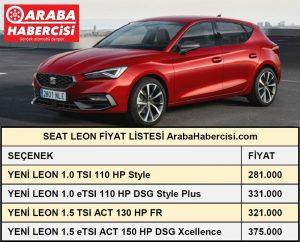 2021 Leon fiyat listesi Temmuz