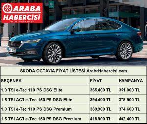 2021 Octavia fiyat listesi Temmuz