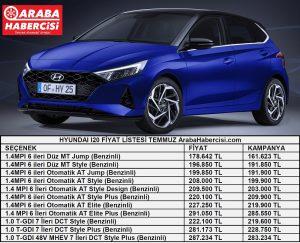 Hyundai i20 Fiyat Listesi Temmuz