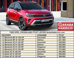 Opel Crossland Fiyat Listesi Temmuz