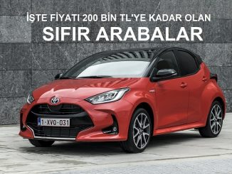 200 bin TL araba 2021.