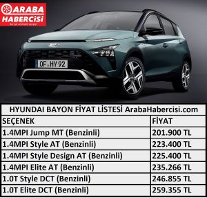 Bayon fiyat listesi Eylül.