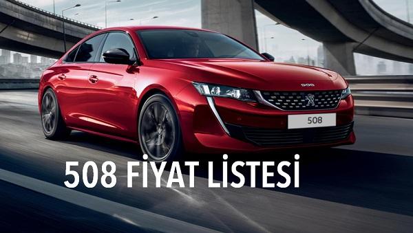 Peugeot 508 fiyat listesi Eylül