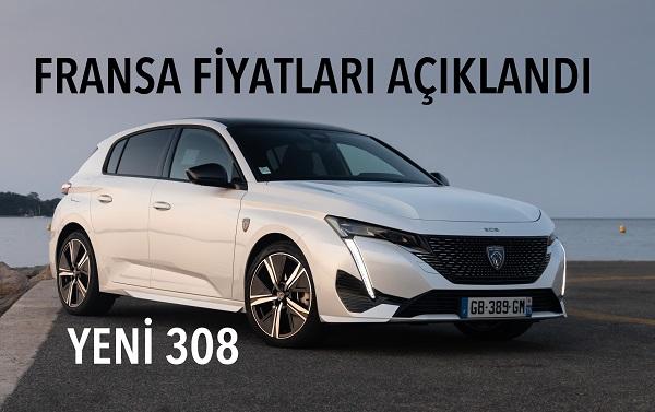 Yeni Peugeot 308 fiyat listesi.