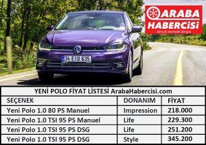 Yeni Polo Fiyat Listesi 2021
