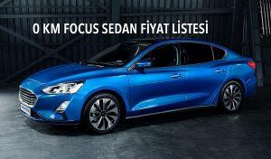 0 km Focus fiyat listesi.