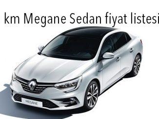 0 km Megane Sedan fiyatı.
