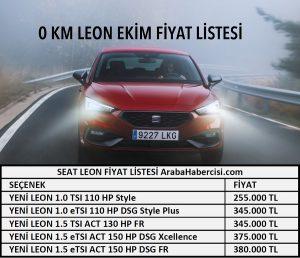 Leon fiyat listesi Ekim 2021